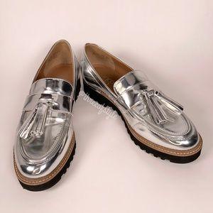 Franco Sarto Carolynn Loafer in Silver Size 5.5 M